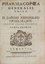 PHARMACOPEA GENERALIS EDIT TREUTTEL STRASBOURG 1786. JACOBO REINBOLDO. UN VOL.