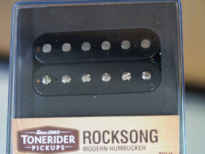 Tonerider Rocksong F Spaced Bridge Pickup Black - Humbucker