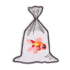 goldfish embroidery patch for clothes ironing on sticker biker sewing appliqueJH