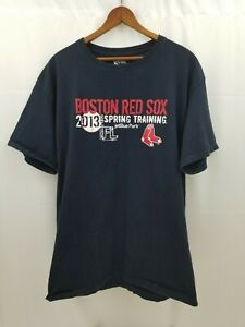 Boston Red Sox Spring Training Mens T-Shirt 2013 Jet Blue Park Large L Blue