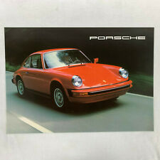 1977 Porsche 911S and Turbo Carrera Sales Brochure 4 Pages