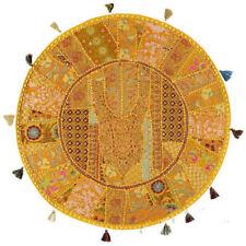 "32"" Boho Round Floor Pillow Bohemian Patchwork floor cushion pouf Vintage India"