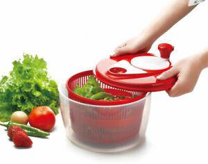 Clean Eating Small Salad Spinner Vegetable Leaf Dryer Drainer Colander Bowl
