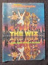 1978 AMERICAN CINEMATOGRAPHER Magazine v.59 #11 VG The Wiz - Michael Jackson