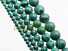 30pcs 6mm Round Bright Malachite Gemstone Loose Spacer Beads Jewelry Findings