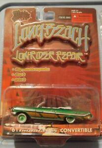 Malibu Long Beach Lowrider Repair '61 Impala SS CONVERTIBLE GREEN 1:64 RARE