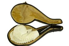 Eagle Claw Meerschaum Pipe Hand Carved  With Case White-ish