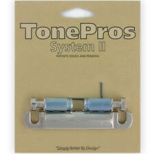 BRAND NEW TonePros T1ZS-N Locking Standard Stop Tailpiece Guitar Bridge - NICKEL