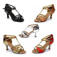 Women Girl lady's Ballroom Tango Latin Dance Dancing Shoes heeled Salsa 5 Colors