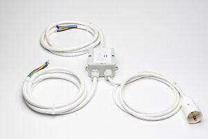 Herdanschlusskabel Power Splitter Herdverteiler Stromverteiler Küchenverteiler