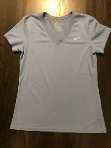 Nike Dri-Fit V-Neck T-shirt Blue Women's Size M EUC