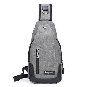 USB Charging One Shoulder Backpack Men Travel Bag Mochila Masculina Sling Bags