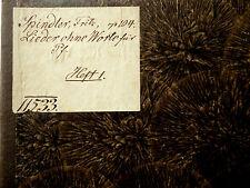 1870 Lieder ohne Worte von Fritz Spindler Piano Sheet Music