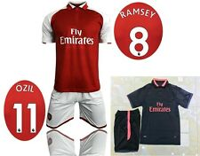 17 18 Arsenal home red soccer kit black thai quality football set sports jerseys