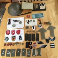 Large Lot of Vintage Historical Military Items from WW1 and WW2 Memorabilia