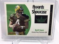Brett Favre 2001 FLEER SHOWCASE Awards Game Used Jersey Packers /100 HOF MINT!