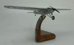 Long Range Monoplane Fairey UK Experimental Airplane Mahogany Wood Model Small