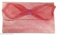 Sac à main de cérémonie Les 3 CHAPEAUX pochette femme 2 rose mariage pink bag