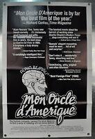 Mon Oncle D'Amerique Review Original One Sheet Movie Poster 1980 27 x 41