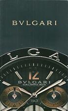 Catalogue Bulgari 2008 Montre watch katalog