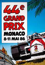 """1986 Monaco Grand Prix - 7""""x10"""" Color Ad Poster"""