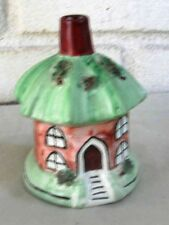 Staffordshire Art Pottery Pastille Burner Shape of Sweet Octagonal Cottage