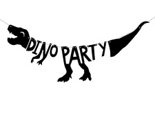 Dinosaur Shaped T-Rex Dino Party Banner 90cm Boys Birthday Hanging Decoration