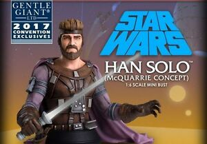 SDCC 2017 GENTLE GIANT EXCLUSIVE STAR WARS HAN SOLO MCQUARRIE CONCEPT BUST-RARE
