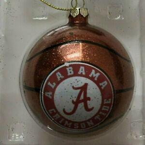Alabama Crimson Tide Christmas Tree Rotate Spinner Basketball Logo Ornament New