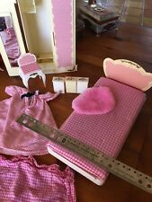 Barbie Vintage Bedroom Pieces Pink Furniture Bed Closet