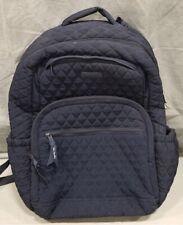 VERA BRADLEY Essential Large Quilted Backpack Moonlight Navy