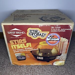 Vintage West Bend Stir Crazy Popcorn Corn Popper New In Box No.5346 Sealed! Rare