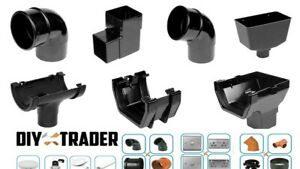 Downpipe and Guttering Rainwater Fittings Round Square Half Round and Squareline
