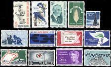 1963 Commemorative Year Set of Thirteen Mint Never Hinged Stamps - Stuart Katz