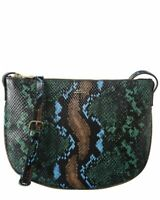 A.P.C. Sac Maelys Snake-Embossed Leather Crossbody Women's Green