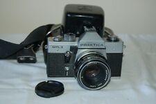 Praktica MTL-3 Vintage 1978 German SLR Camera With Lens & Case. Tested. UK Sale