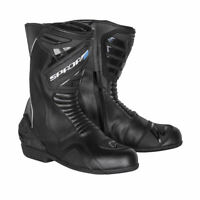 Spada Aurora Waterproof Motorcycle Motorbike Leather Reinforced Boots - Black