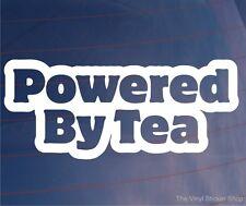 POWERED BY TEA Funny Car/Van/Truck/Window/Bumper/Laptop Vinyl Sticker/Decal