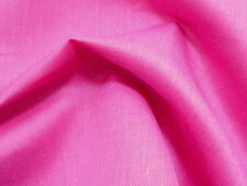 5.0 Yds-Awesome BRIGHT PINK LINEN & COTTON  Light to Medium Weight SOLID Fabric