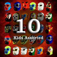 MRMASKMAN 10 COMBO PACK CHILDREN LUCHADOR PARTY MASKS MEXICAN WRESTLING LUCHA