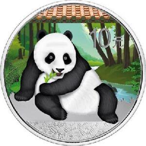 China - 10 Yuan 2015 - Panda - in Farbe - 1 Oz Silber ST