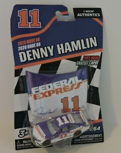 2020 DENNY HAMLIN DARLINGTON THROWBACK #11 Federal Express NASCAR AUTHENTIC 1:64