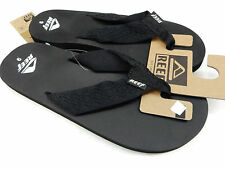 REEF MENS SANDALS SMOOTHY BLACK SIZE 10
