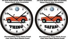 VOLKSWAGEN THING or SAFARI WALL CLOCK-FREE USA SHIP!