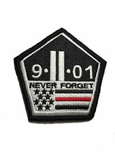 The Thin Red line 911 Remember Patch Hook/loop Morale Military Twin Towers