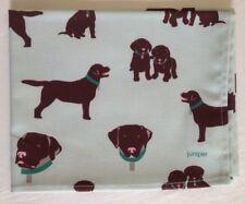 NEW CHOCOLATE LABRADOR DOG PRINT ALL COTTON TEA TOWEL JUNIPER BRAND