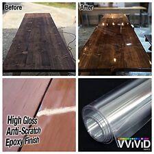 Clear High Gloss Epoxy Vinyl Wrap Furniture Laminate Scratch-Resistant DIY Film