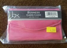 "NEW IN PACKAGE! BUXTON PINK BUSINESS CARD CASE WITH FLAP 4.5"" X 3"" SO CUTE!"