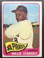 1965 TOPPS  #377 WILLIE STARGELL Baseball Card HOF Looks nice (pin hole)