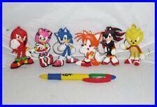 SONIC THE HEDGEHOG Set 6 FIGURE PORTACHIAVI Tails Knucles Amy Metal Sonic NUOVE